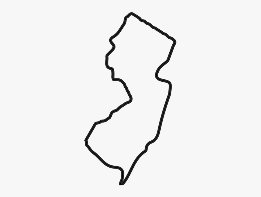 Clip Art New Jersey Outline Png - New Jersey Outline Png, Transparent Clipart