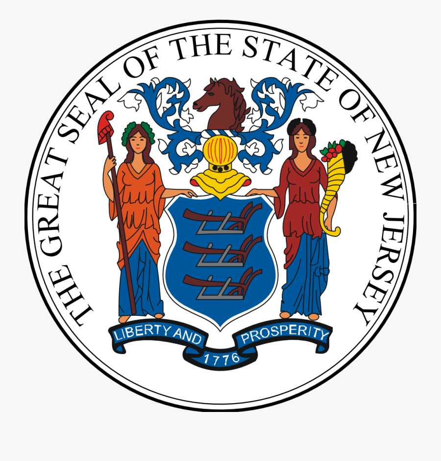 New Jersey State Seal Picture - New Jersey Vs New York Flag, Transparent Clipart