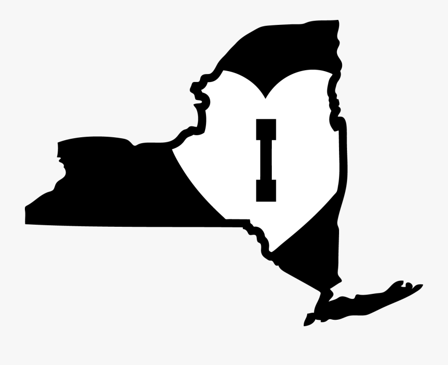 New York City New Jersey U - Clip Art New York State Outline, Transparent Clipart