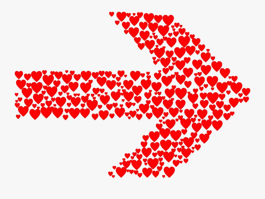 Hearts Arrow - Png Heart Arrow, Transparent Clipart