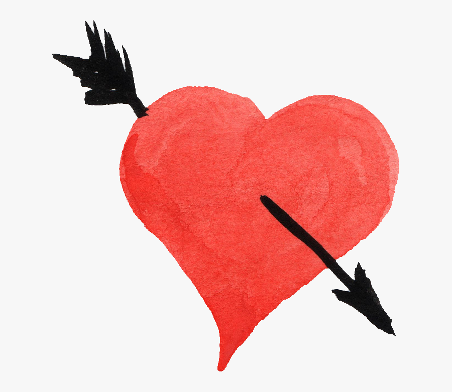 Heart Arrow Png - Heart With Arrow Png, Transparent Clipart