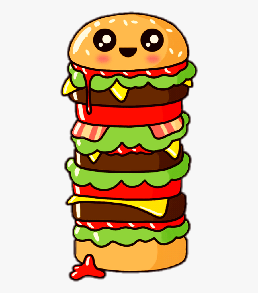 Transparent Junk Food Snacks Clipart - Cute Food, Transparent Clipart
