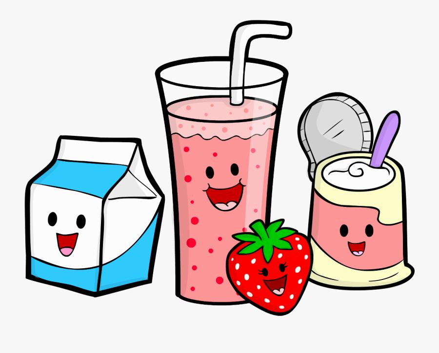 Smoothie Clipart School Food - Cartoon Transparent Healthy Food, Transparent Clipart