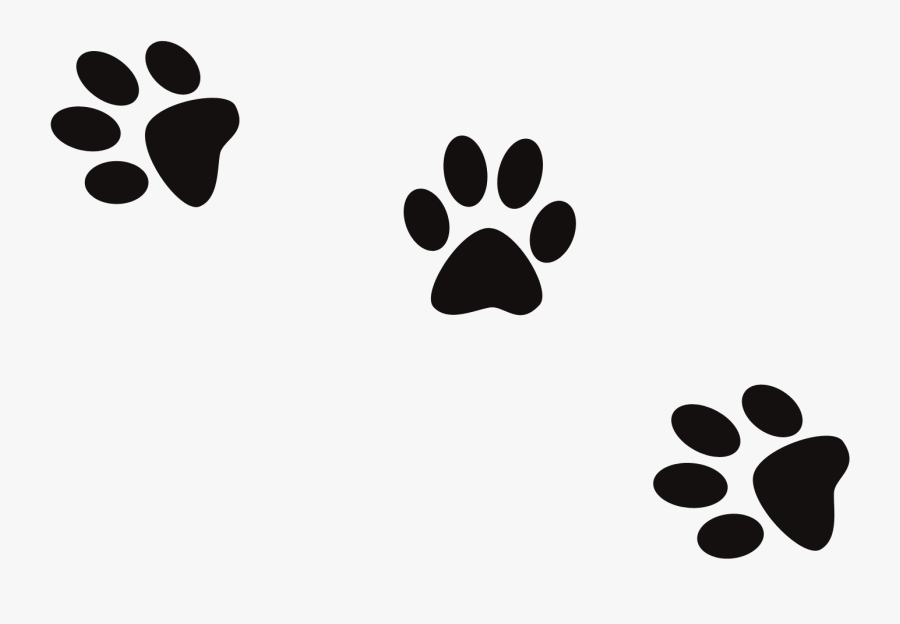 Dog Print Cat Footprint Banner Black And White Files - Transparent Cat Footprint Png, Transparent Clipart