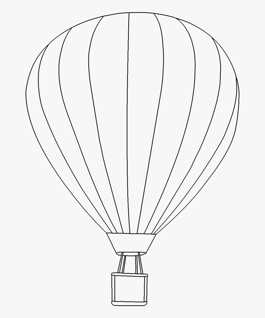 Balloon Outline Drawing At Getdrawings - Hot Air Balloon, Transparent Clipart