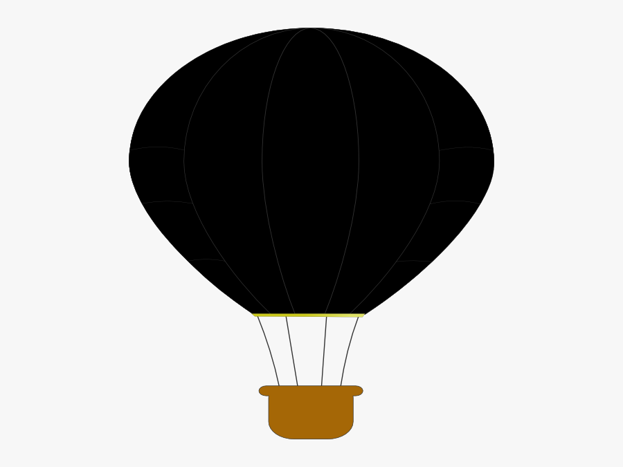 Brown Hot Air Balloon, Transparent Clipart