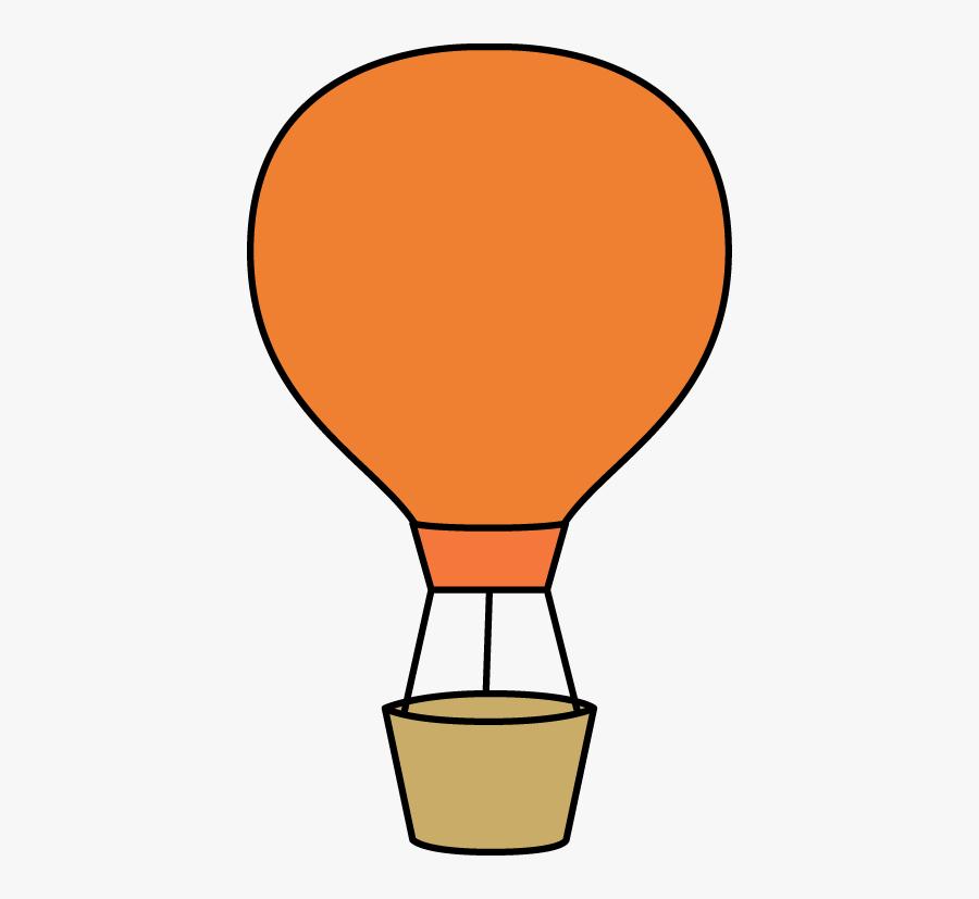Orange Hot Air Balloon - Cute Hot Air Balloon Clipart, Transparent Clipart