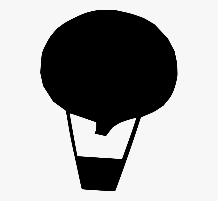 Siluet Balon Udara, Transparent Clipart