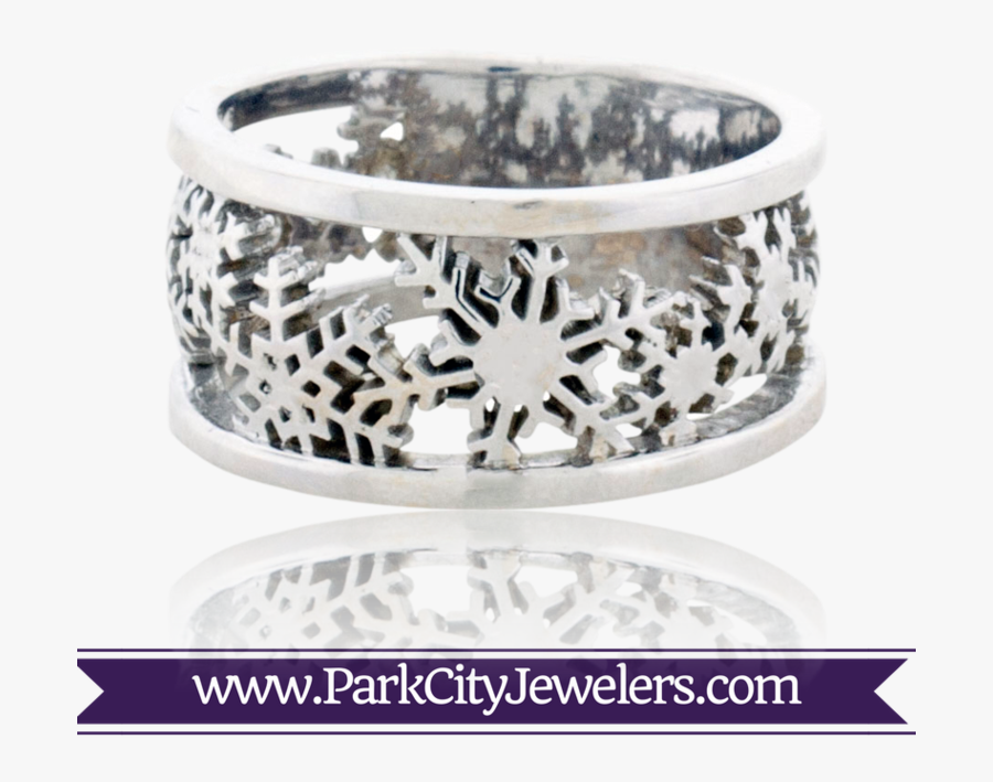 Transparent Engagement Ring Clipart - Sterling Silver Snowflake Ring, Transparent Clipart