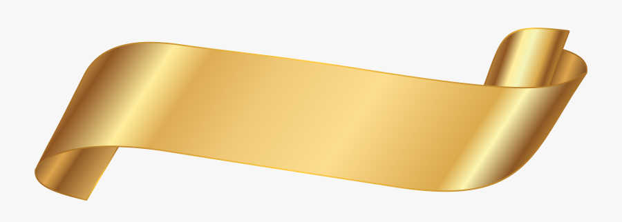 Paper Banner Clip Art - Transparent Background Gold Ribbon, Transparent Clipart