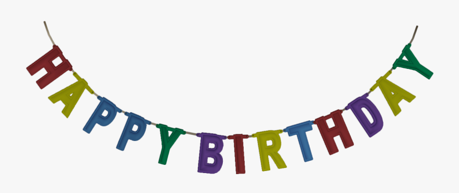 Under The Clipart Banner - Happy Birthday Banner Png, Transparent Clipart