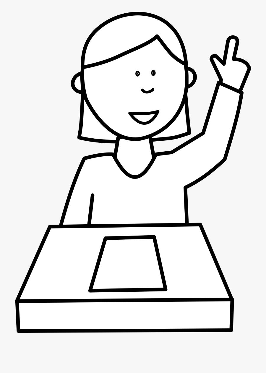Transparent Question Clip Art - Student Cartoon Black Background, Transparent Clipart