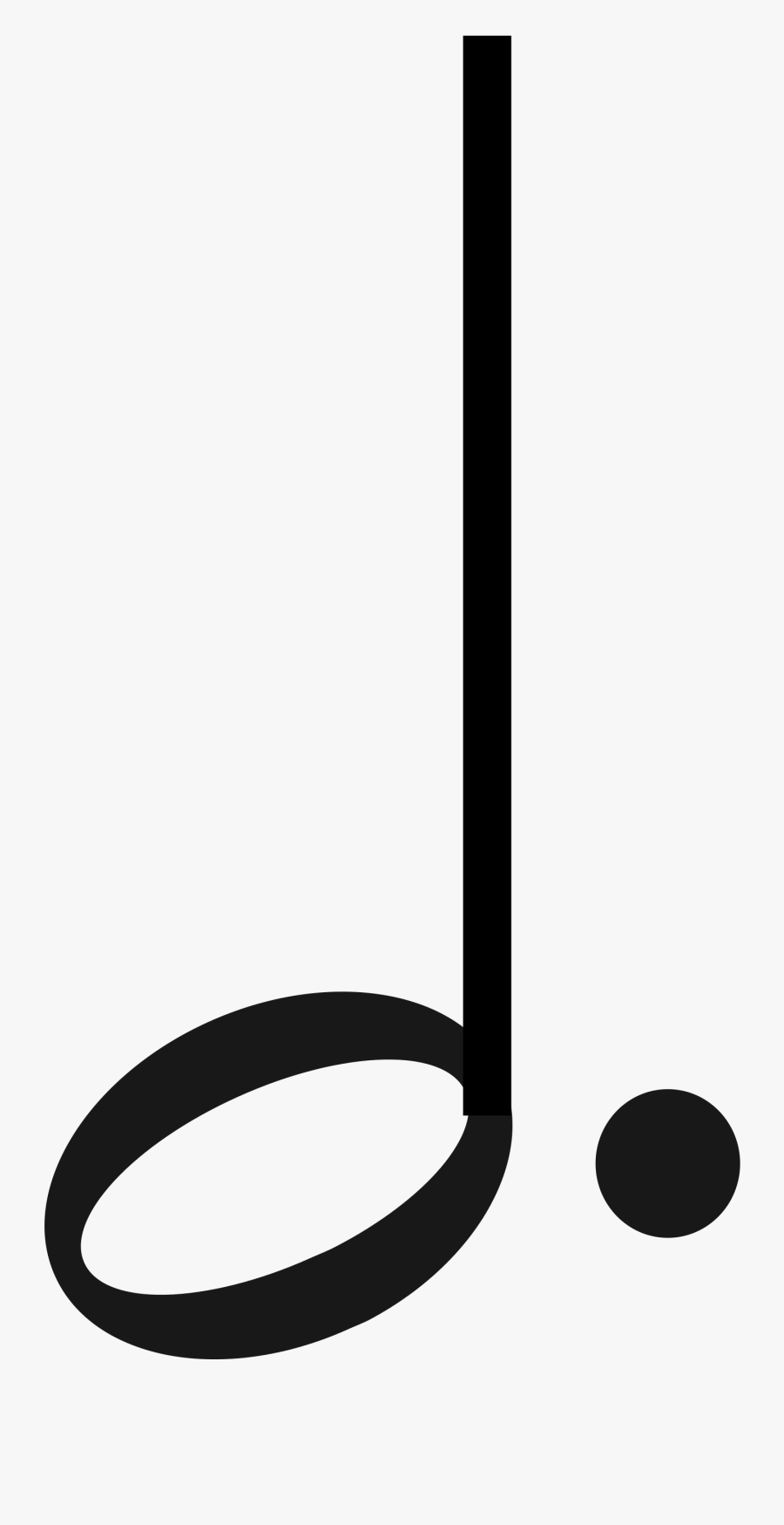 Music Dotted Half Note Clipart , Png Download - Music Dotted Half Note, Transparent Clipart