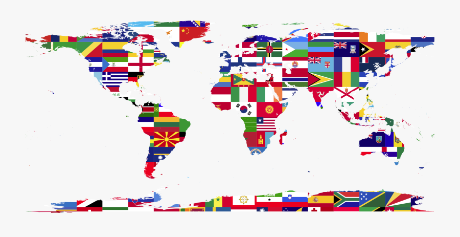 World Map Country Wall Decal - High Resolution World Map Vector, Transparent Clipart