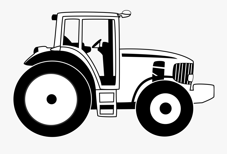 Tractor Clipart Black And White, Transparent Clipart