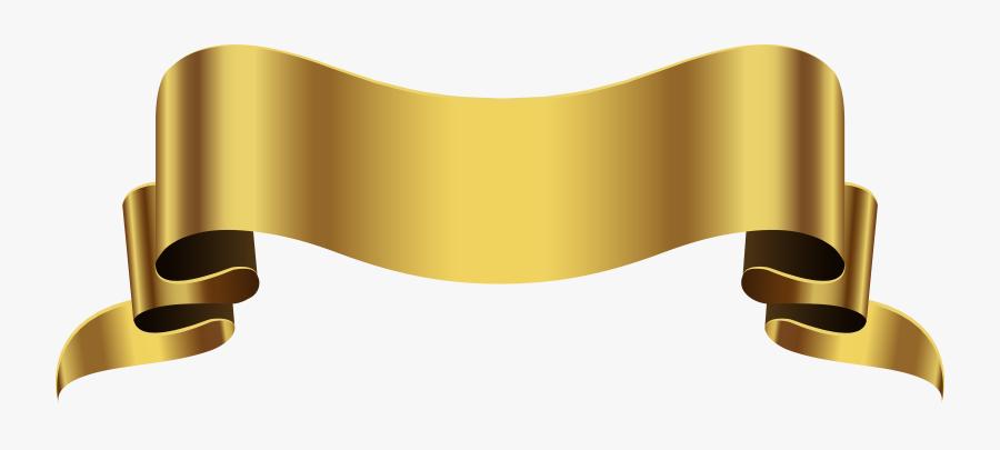Banner Clipart Gold Png - Gold Banner Transparent Background, Transparent Clipart