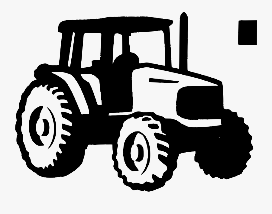 Tractor Clipart 3 Image - Tractor Black And White, Transparent Clipart