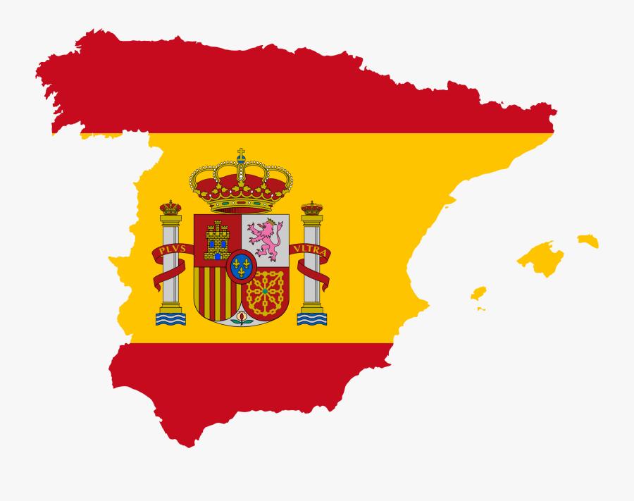 Thumb Image - Spain Map Flag Clipart, Transparent Clipart