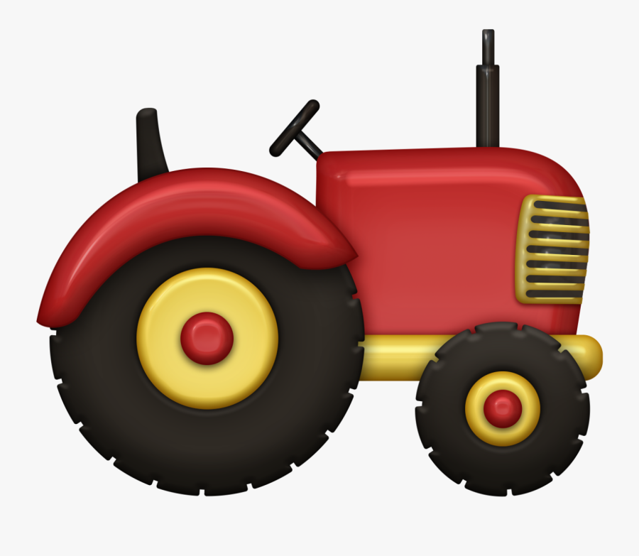 Red Tractor Clipart, Transparent Clipart