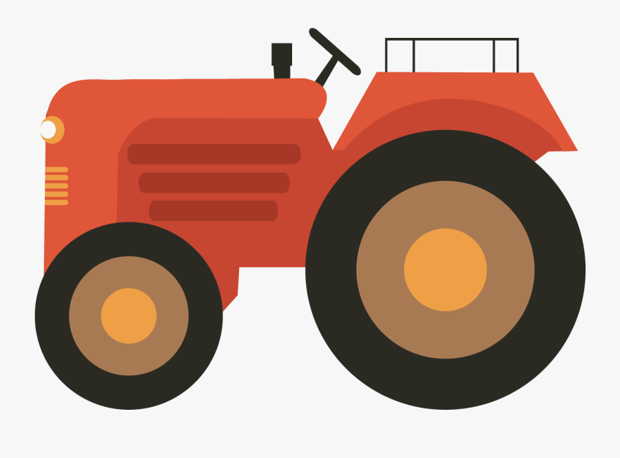 Agriculture Clip Art Red - Tractor Vector Png, Transparent Clipart