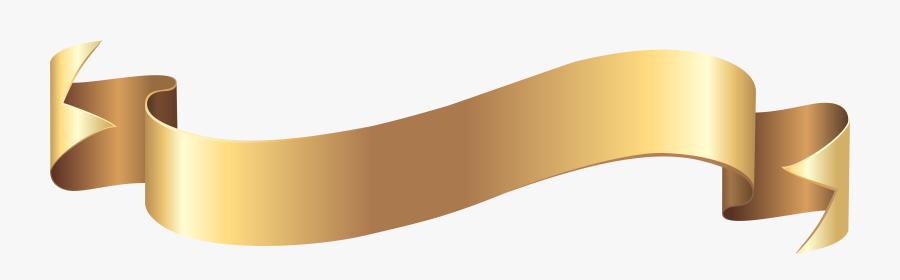 Thumb Image - Gold Banner Transparent Background, Transparent Clipart
