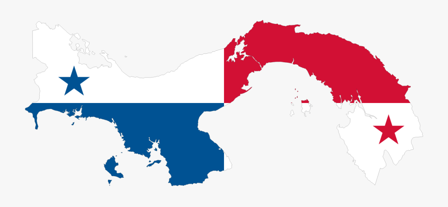 Map,area,sky - Panama Flag And Map, Transparent Clipart