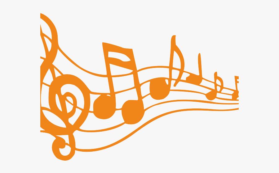 Transparent Clipart Note De Musique - Music Notes Clip Art Orange, Transparent Clipart