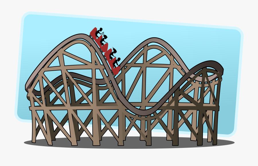 Structure,roller Coaster,amusement Park - Theme Park Roller Coaster Clipart, Transparent Clipart