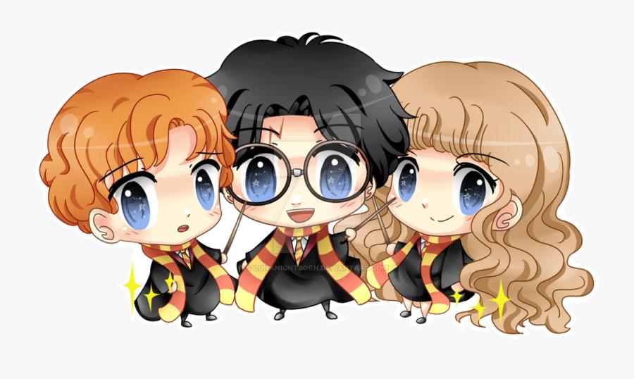Clipart Transparent Chibi Transparent Harry Potter - Cartoon Harry Potter Drawings, Transparent Clipart