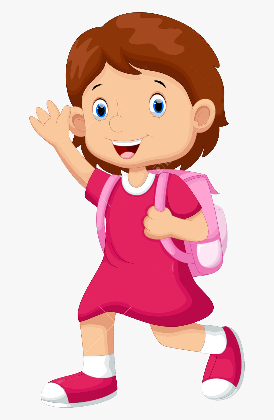 Clip Art High School Students Clipart - Girl Going To School Clipart, Transparent Clipart