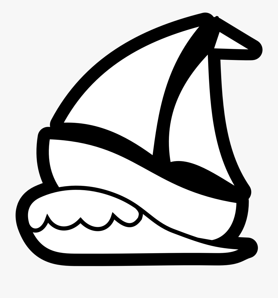 Free Sailboat Clipart Black And White Image - Sail Boat Clip Art, Transparent Clipart