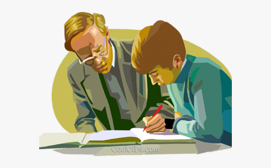 Teacher Helping Student Clipart - Related Careers Of A Teacher, Transparent Clipart