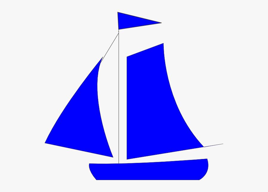 Blue Sail Boat Clip Art - Blue Sail Clipart, Transparent Clipart
