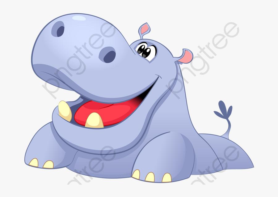 Cartoon Hippo - ภาพ วาด ฮิปโป การ์ตูน, Transparent Clipart