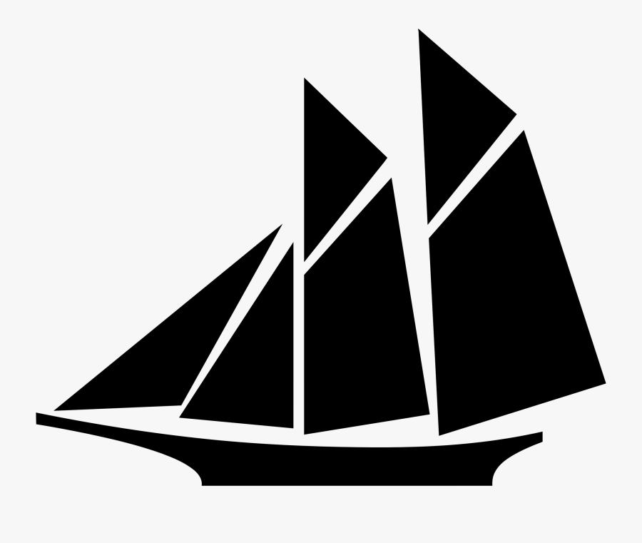 Image Of Blue Sailboat Clipart Navy Clip Art - Clip Art Sail Boat, Transparent Clipart