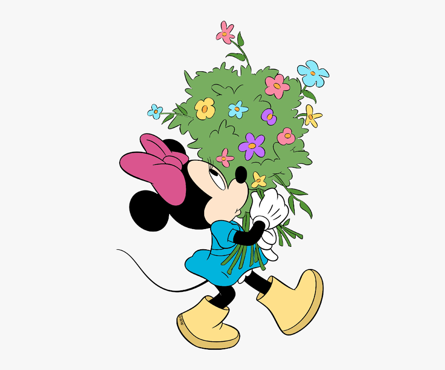 Disney Springtime Clip Art Disney Clip Art Galore - Minnie Mouse Flowers, Transparent Clipart