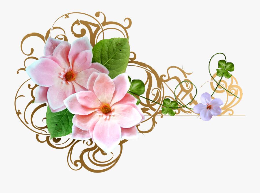 Bouquet Wedding Invitation Clip Art - Clipart Flower Png Wedding Invitation Flower Design, Transparent Clipart