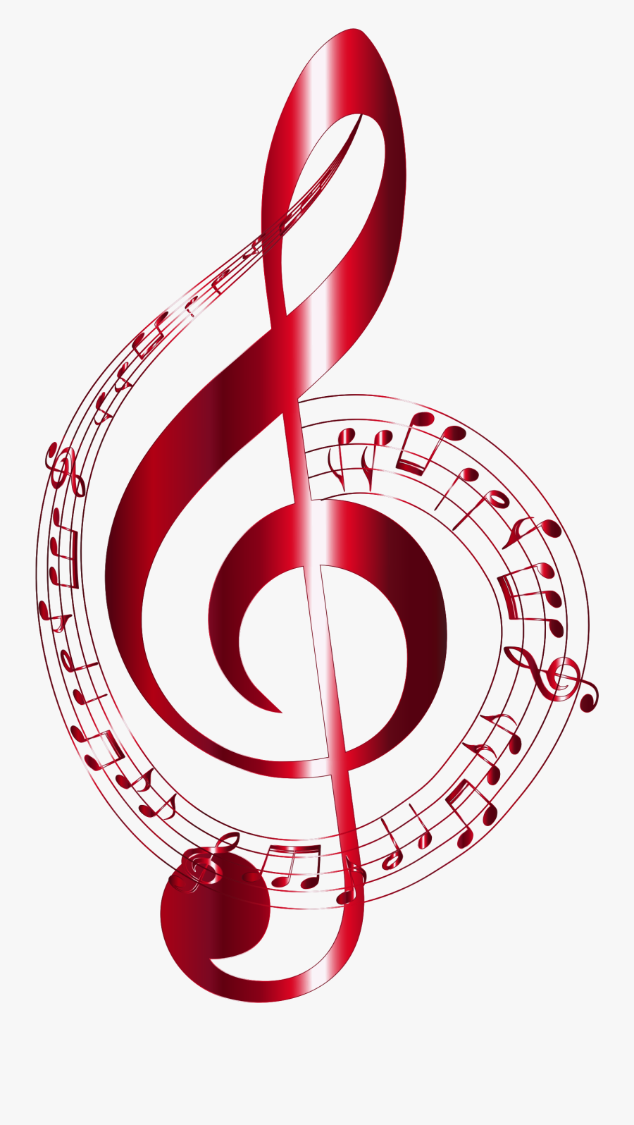 Clip Art Abstract Music Note - Musical Notes, Transparent Clipart