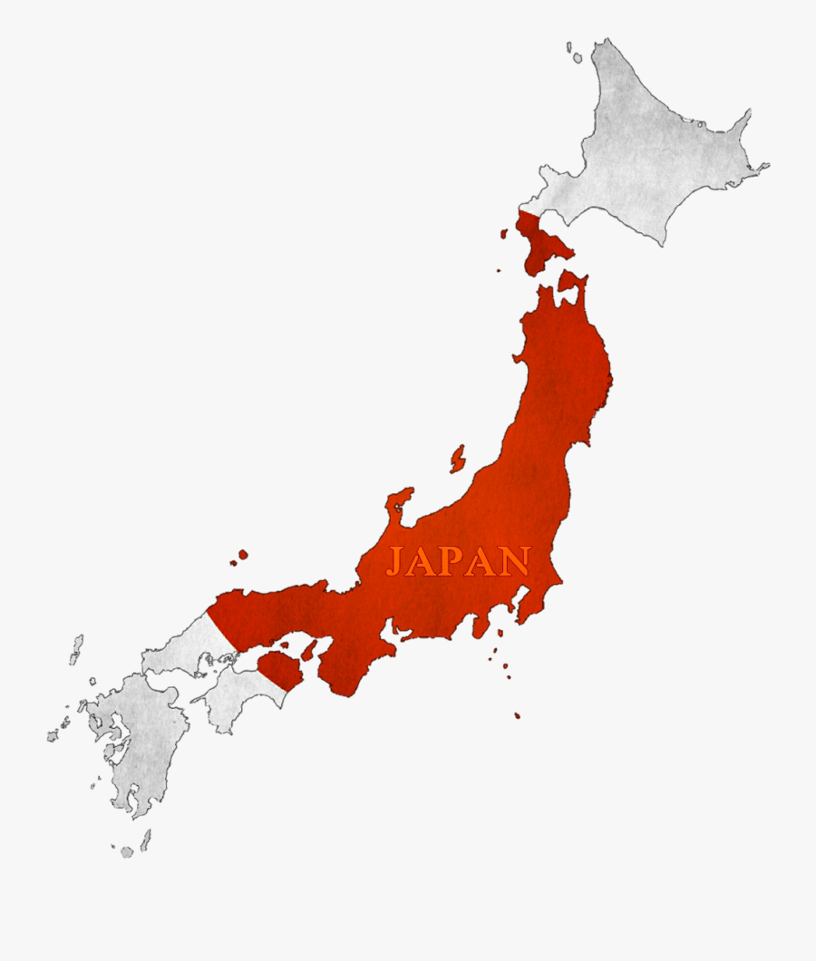 #maps #japan #flag #flagsticker - Japan Map, Transparent Clipart