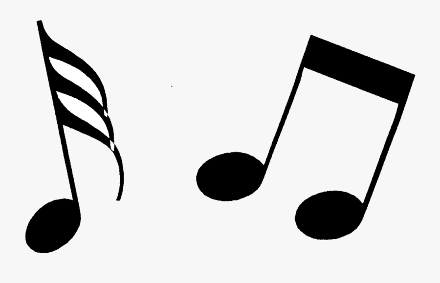 Note Music Notes Clipart Black And White Free Transparent - Music Note Clipart, Transparent Clipart