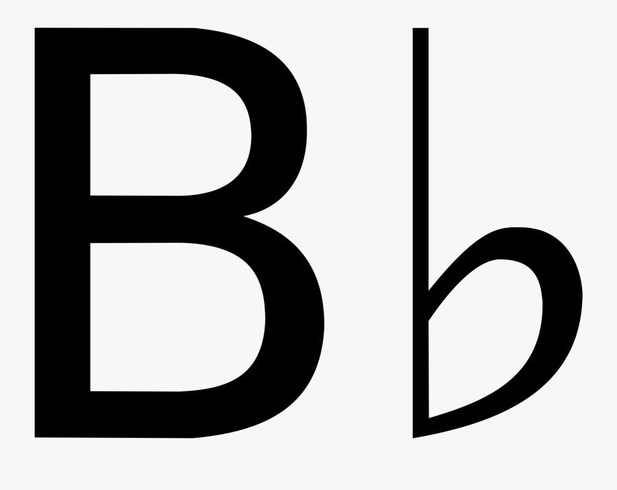 B Clipart Music Note - Music B Flat Symbol, Transparent Clipart
