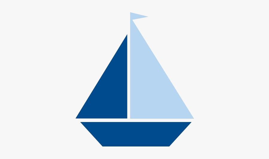Sailboat Image Of Blue Clipart Navy Clip Art Transparent - Sailing Boat Cut Out, Transparent Clipart