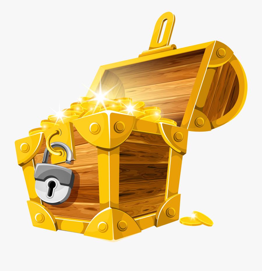 Pirate Clipart Clipartix - Transparent Treasure Chest Cartoon, Transparent Clipart