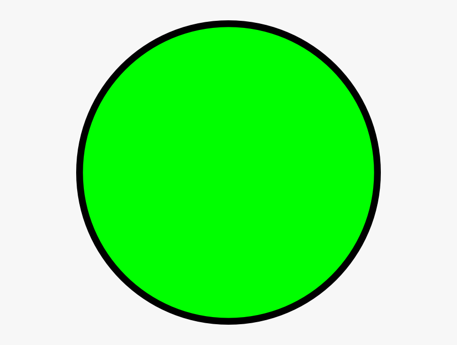 Green Circle With Transparent Background, Transparent Clipart