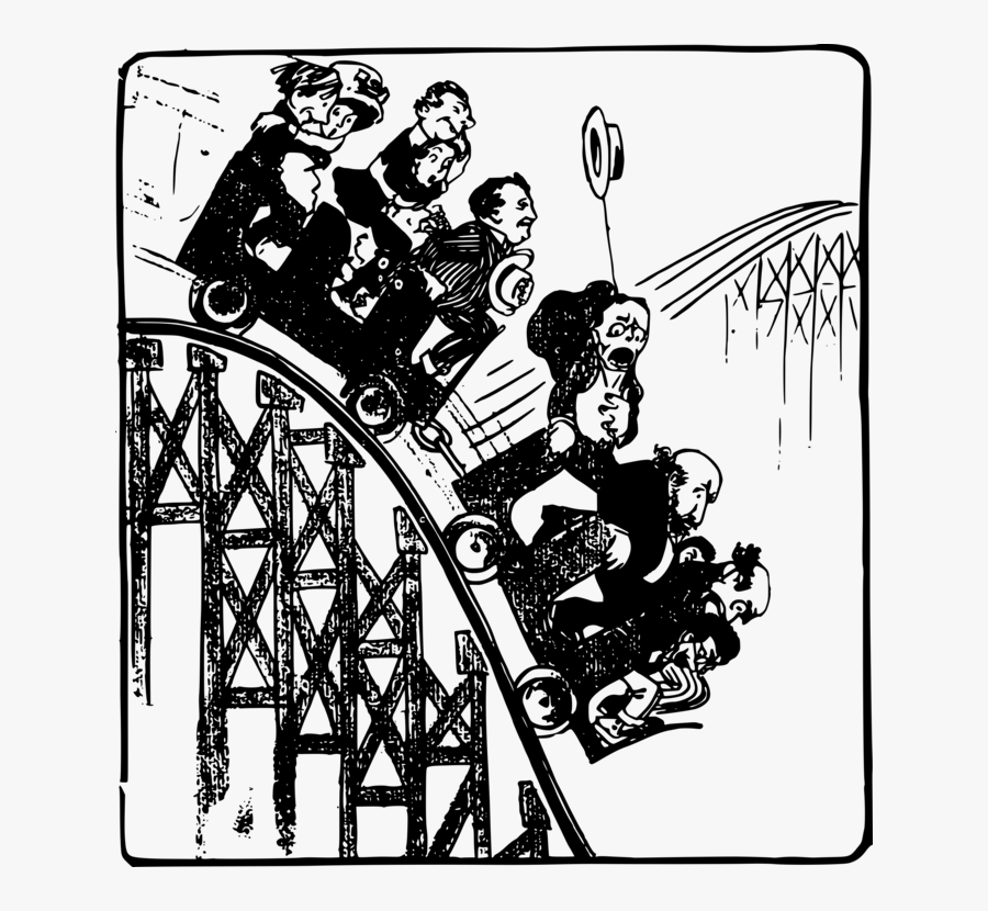 Human Behavior,recreation,art - Clip Art People On A Roller Coaster, Transparent Clipart
