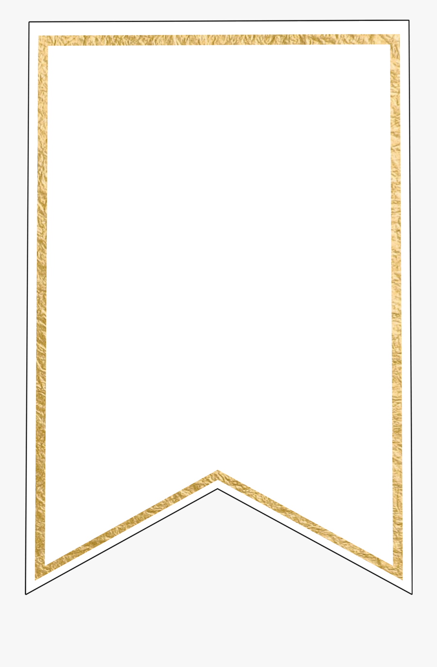 Free Pennant Banner Template, Download Free Clip Art, - Transparent Background Banner Blank Template, Transparent Clipart