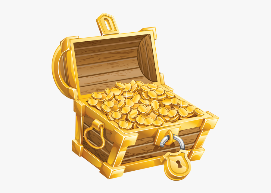 Pirate Clipart Coin - Pirate Treasure Chest Png, Transparent Clipart
