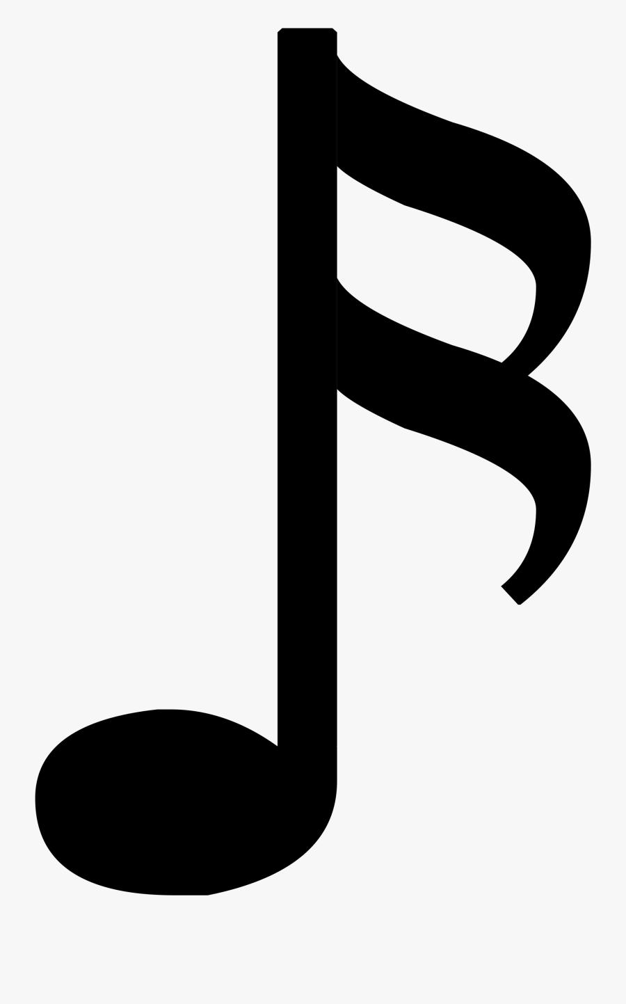 Note Clipart Quaver - 1 8 Music Note, Transparent Clipart