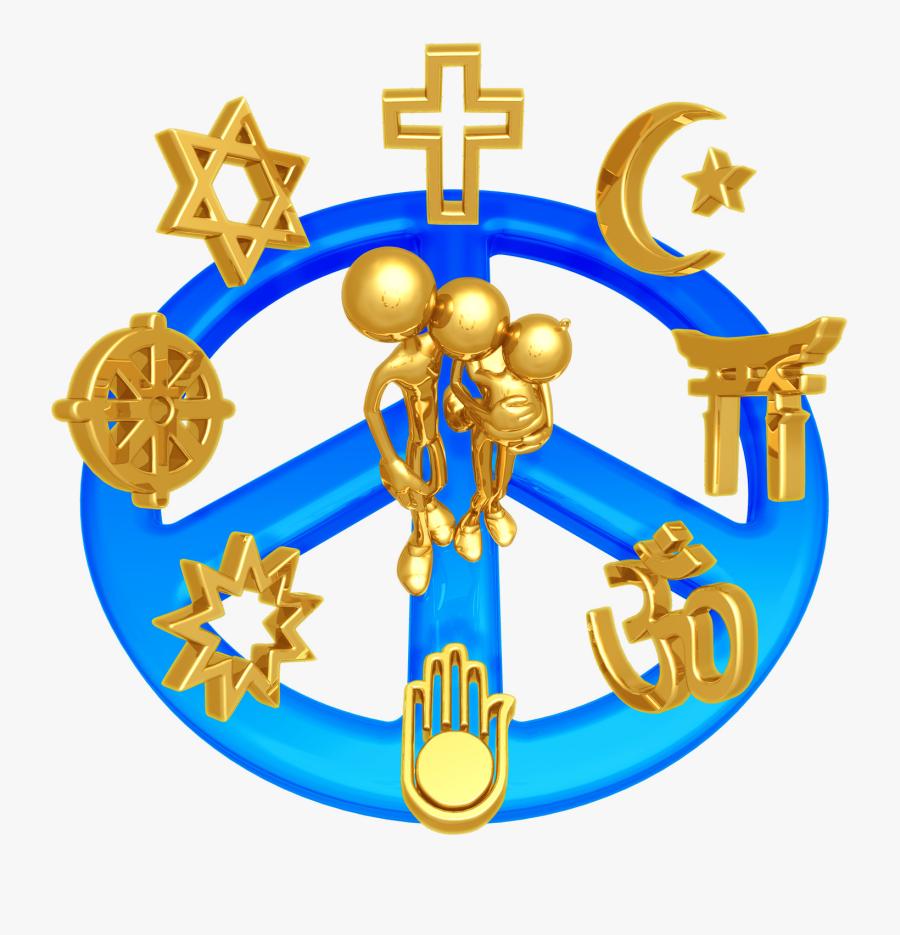 Religious Clipart October - All Religions Symbols In India, Transparent Clipart