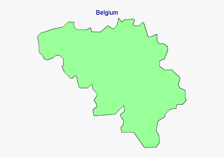 Map Of Belgium Terrain Area And Outline Maps Of Belgium - Belgium Map Outline Green, Transparent Clipart